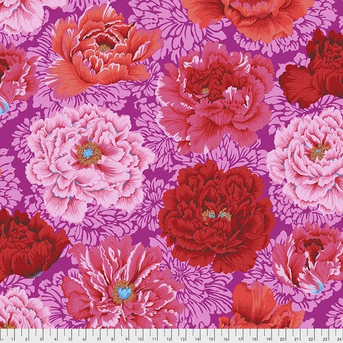PRE-ORDER (FEBRUARY 2021): Kaffe Fassett - Collective 2021 - Brocade Peony - Hot