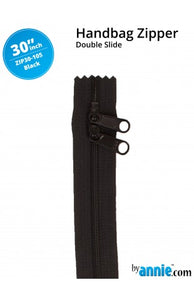 "By-Annie 30"" Zipper (double-slide) - Black"