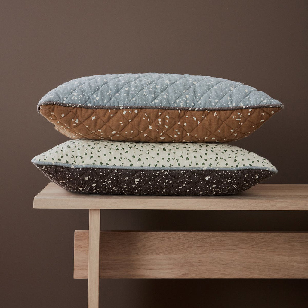 OYOY Canada - Danish Cushion - Aya Brown/White - ella+elliot