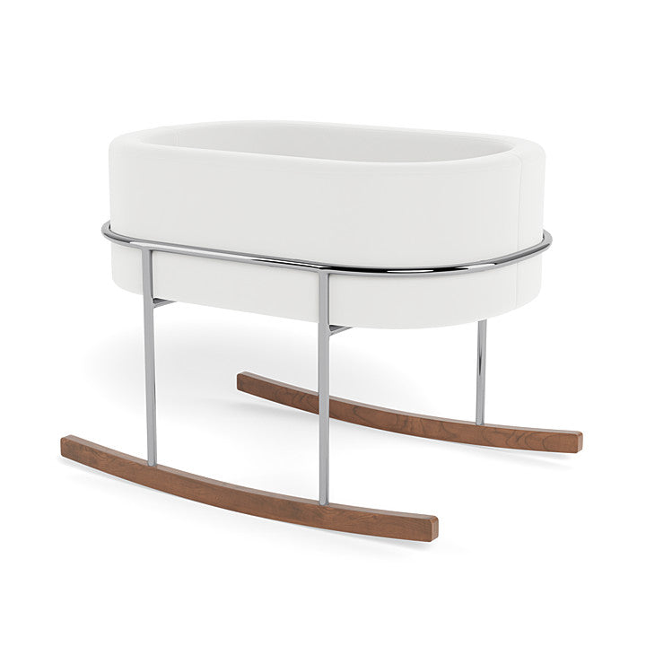 Monte Design Canada - Rockwell Bassinet with Chrome and Walnut Base - ella+elliot
