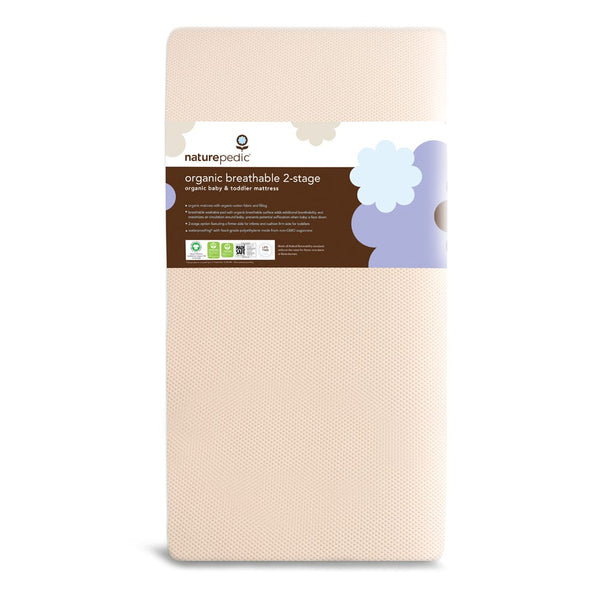 Naturepedic Canada - Naturepedic Organic Breathable 2-Stage Baby Crib Mattress MC46 - ella+elliot