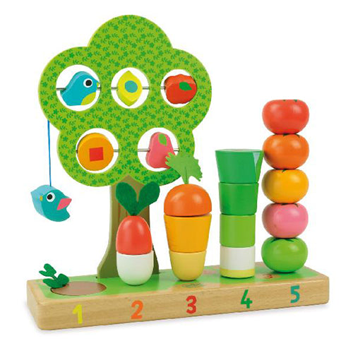 French Design Canada - French Stacking Toy - Counting Veg - ella+elliot