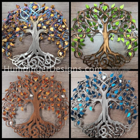Infinity Tree of Life Metal Wall Art - Celtic Knot Tree