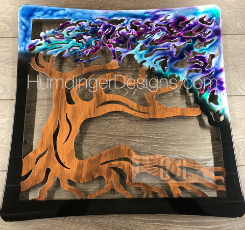 Oak Tree Metal Wall Art