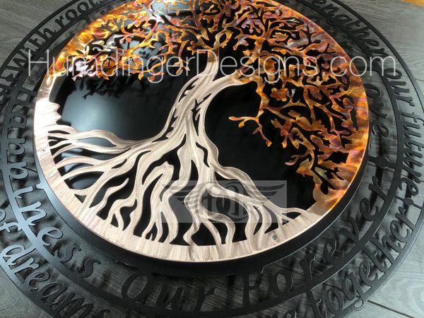 Tree of Life with Infinity Tree Poem (Pure Copper)