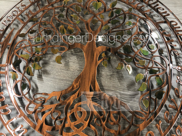 Infinity Tree (Green Pearl) with Infinity Tree Poem (Hand Painted - One Piece)