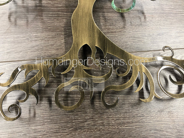 Swirly Tree (Brass Verdigris)