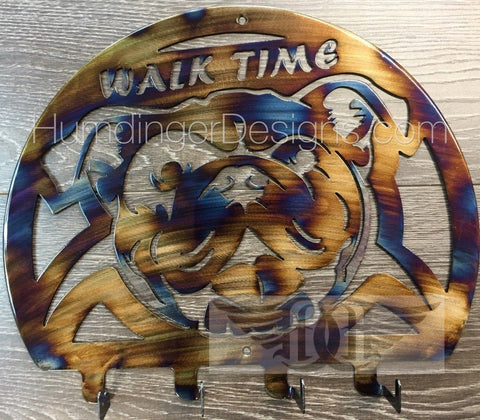 Animals - Bulldog Walk Time Leash Holder