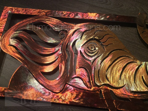 Animals - Elephant Metal Art Wall Decor (PURE COPPER)
