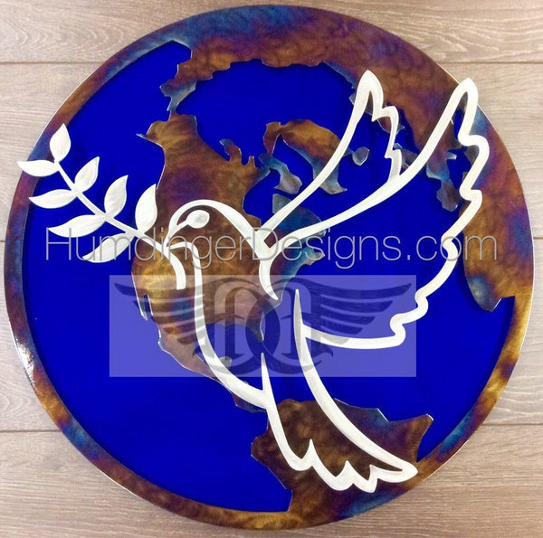 Peace Dove Metal Wall Art