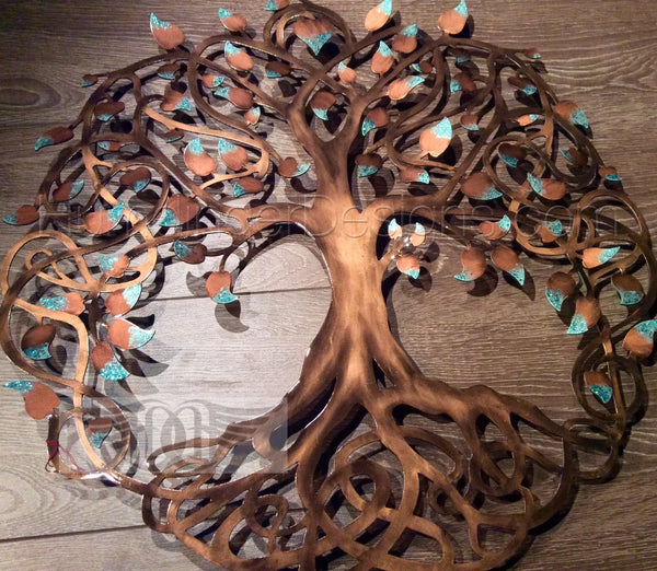 Infinity Tree Copper Patina Sparkle