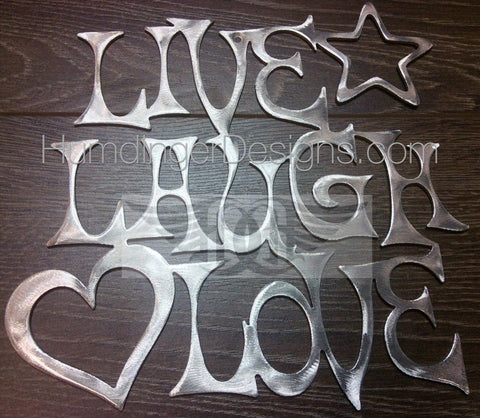 Inspirational Words - Live, Laugh, Love (Aluminum)