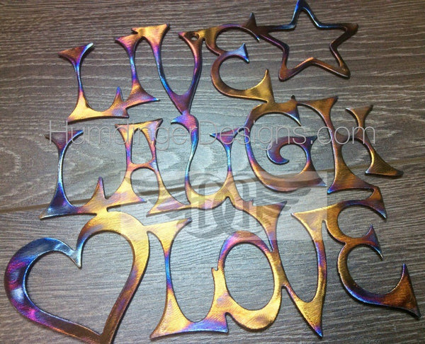 Inspirational Words - Live, Laugh, Love (Stainless Steel)