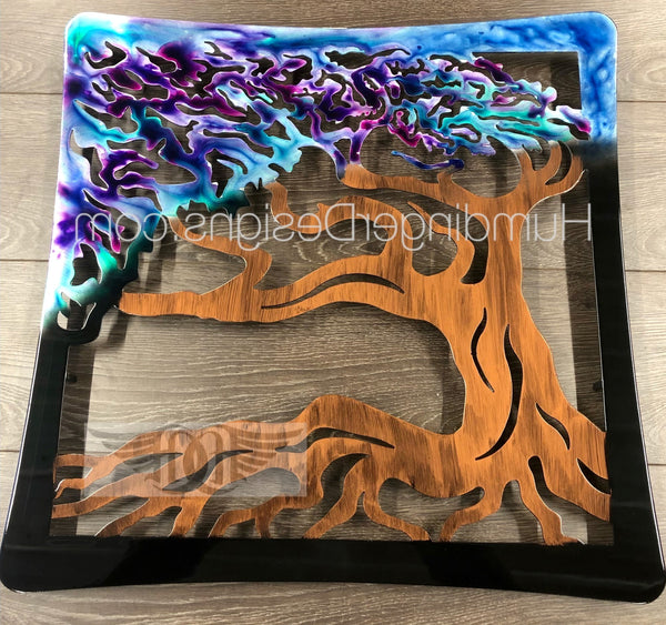 Wind Swept Oak Tree (Iridescent)