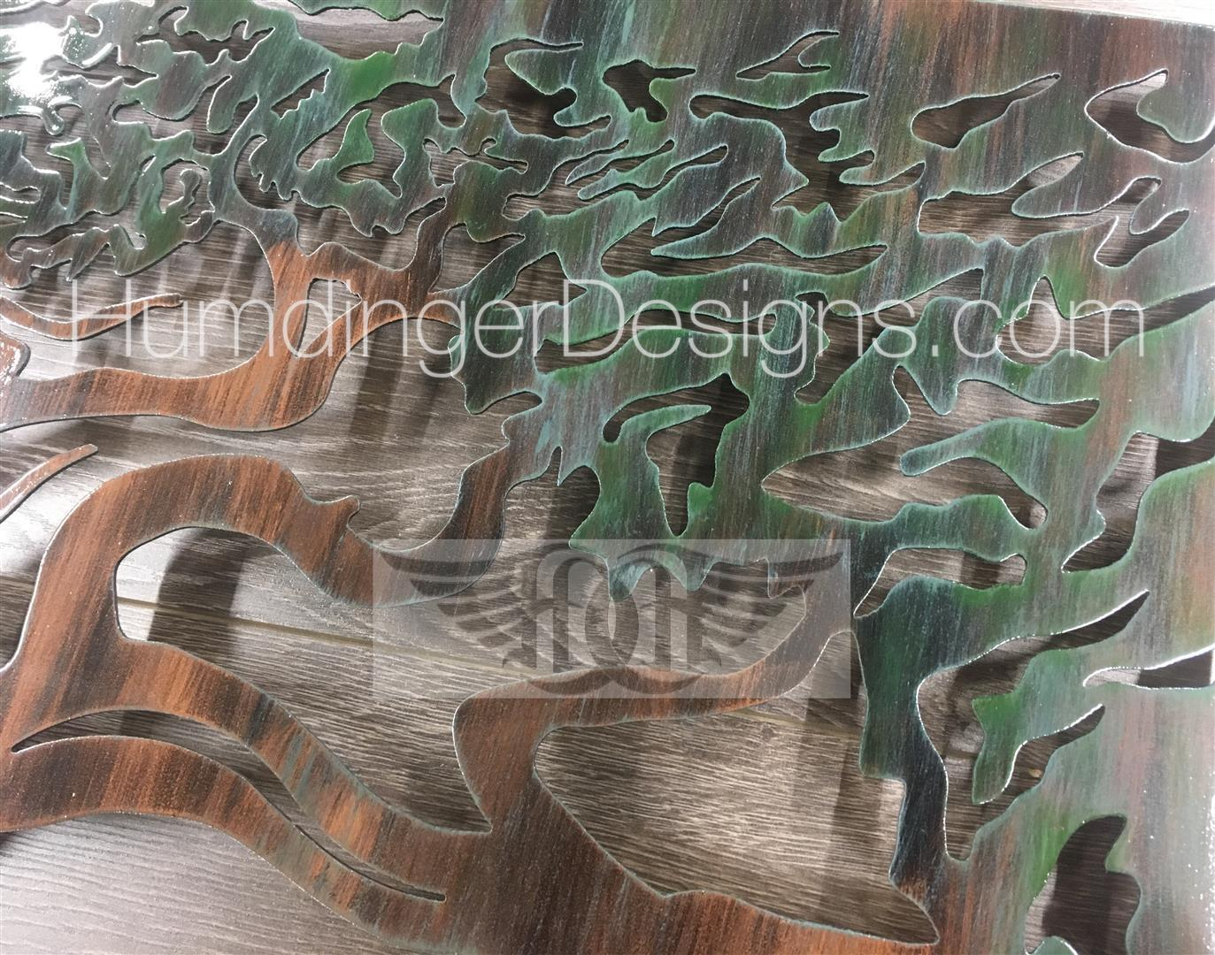 Ventura Ocean Scene With Tree Metal Wall Art (Copper