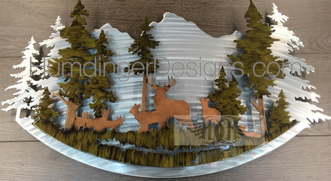 Outdoors - Deer Metal Wall Art