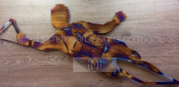 Outdoors - Slalom Water Skier Metal Wall Art