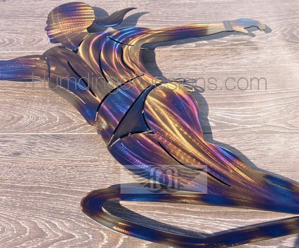 Outdoors - Slalom Water Skier Metal Wall Art (Female)