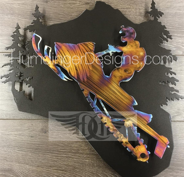 Outdoors - Snowmobile Metal Wall Art