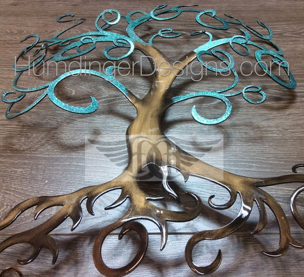 Swirly Tree - Swirly Tree 3D (Teal Sparkle)