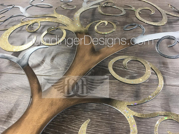 Swirly Tree - Swirly Tree (Gold And Silver Sparkle)