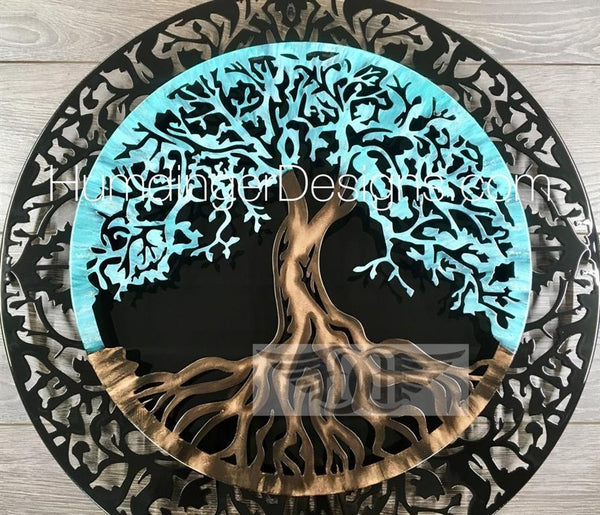 Tree of Life (2 Piece Antique Teal)