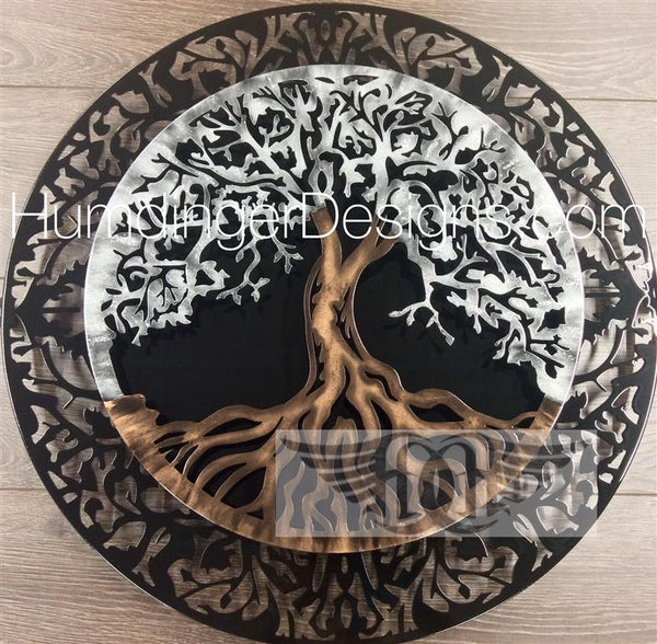 Tree of Life (2 Piece Silver Sparkle)