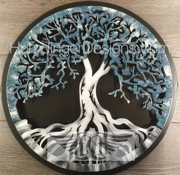Tree Of Life - Tree Of Life (Antique Slate Sparkle) With Simple Dark Background