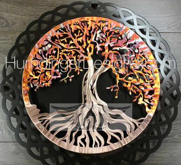 Tree of Life in Pure Copper with Celtic Knot