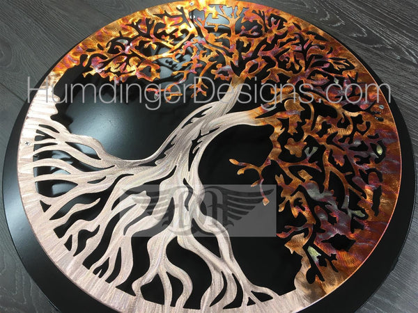Tree Of Life - Tree Of Life In Pure Copper With Simple Dark Background