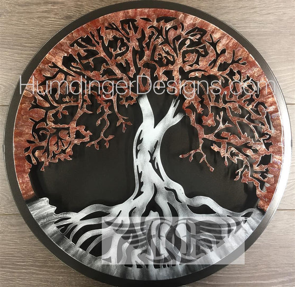 Tree of Life (Merlot Sparkle) with Simple Dark Background