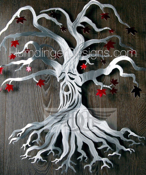 Weirwood Tree - Weirwood Tree Silver With Red Leaves