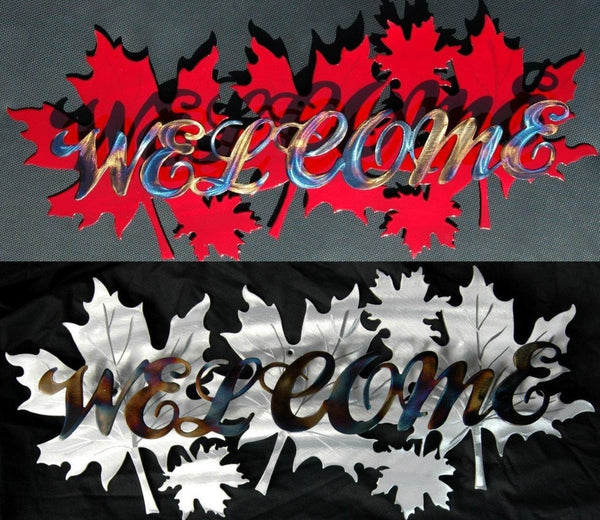 Welcome Signs - Maple Leaf Welcome Sign