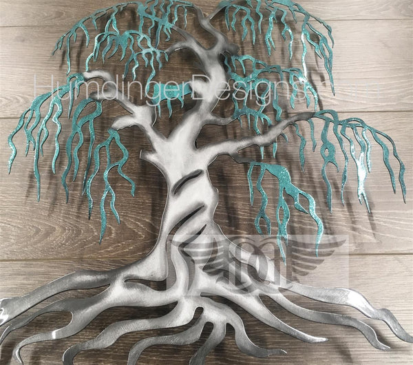 Willow Tree - Willow Tree (Silver Trunk Teal Sparkle)