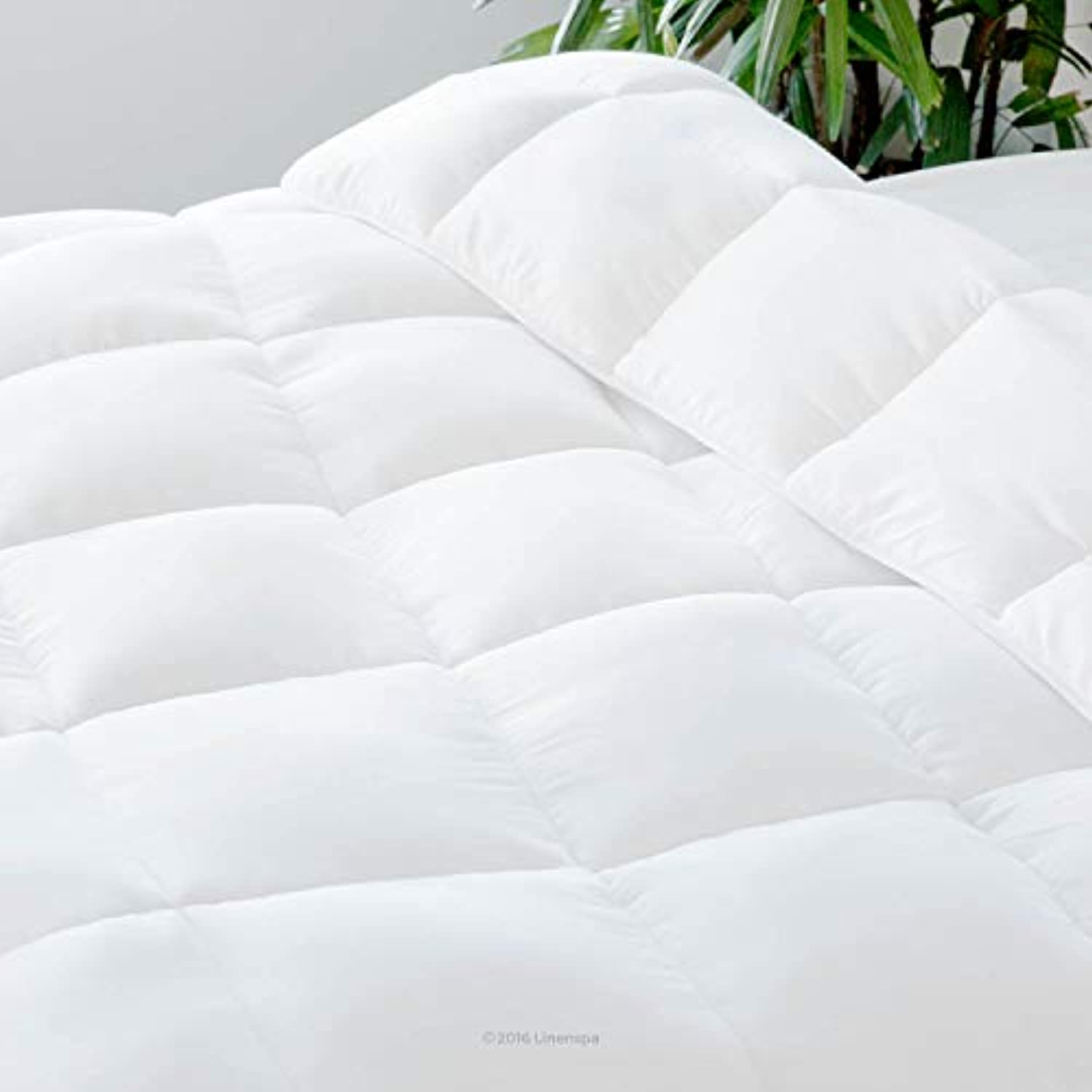 Classier: Buy Linenspa Linenspa All-Season White Down Alternative Quilted Comforter - Corner Duvet Tabs - Hypoallergenic - Plush Microfiber Fill - Machine Washable - Duvet Insert or Stand-Alone Comforter - Queen