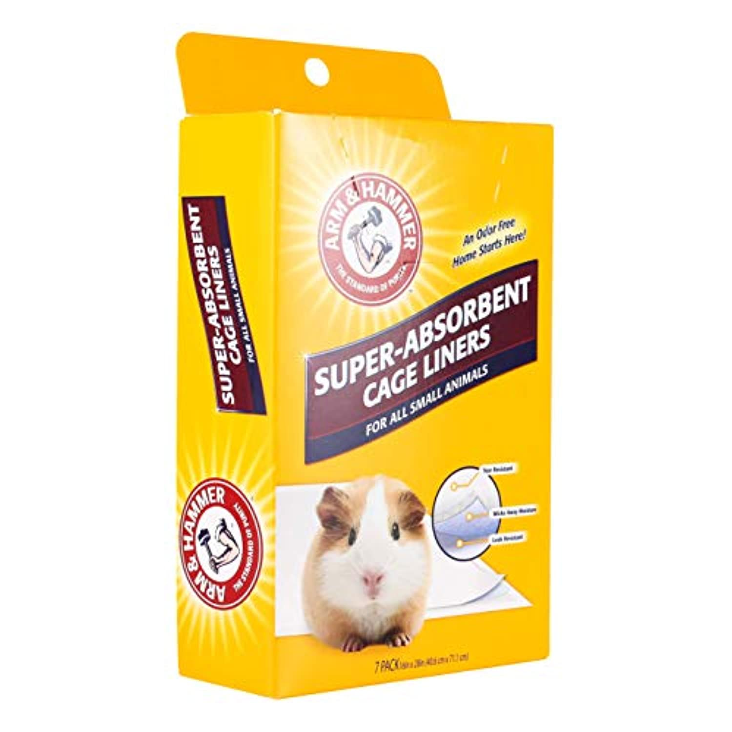 Classier: Buy Arm & Hammer For Pets Arm & Hammer Super-Absorbent Cage Liners for Guinea Pigs, Hamsters, Rabbits & All Small Animals | Best Cage Liners for Small Animals, Control Pet Odors, 7 Count
