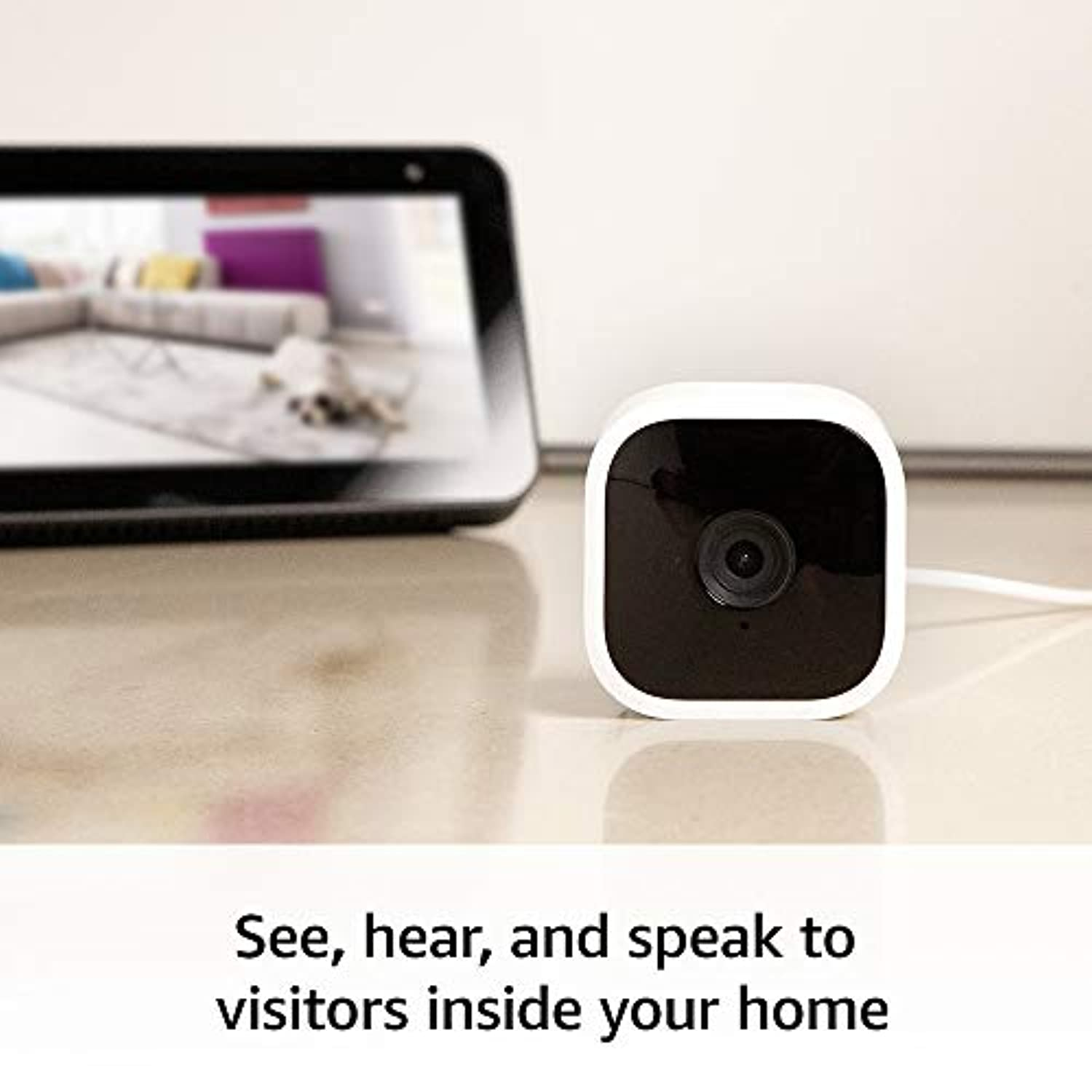 Classier: Buy Blink Home Security Introducing Blink Mini – Compact indoor plug-in smart security camera, 1080 HD video, motion detection, Works with Alexa – 1 camera