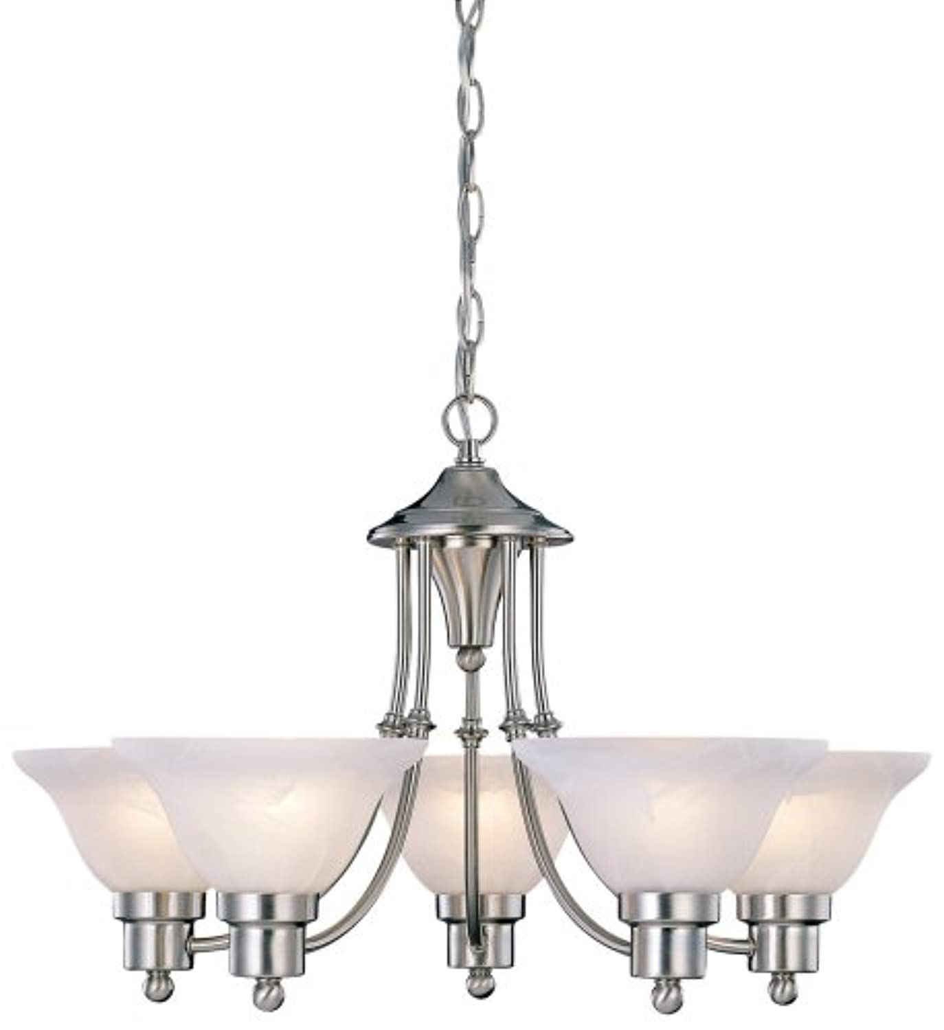 "Classier: Buy Hardware House Hardware House 544452 54-4452 Bristol 5 Light Chandelier, 24""x15"", Satin Nickel"