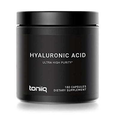 Classier: Buy Toniiq Ultra High Purity Hyaluronic Acid Capsules - 275mg Formula - Non-GMO Fermentation - High Strength with Vitamin C - 180 Capsules