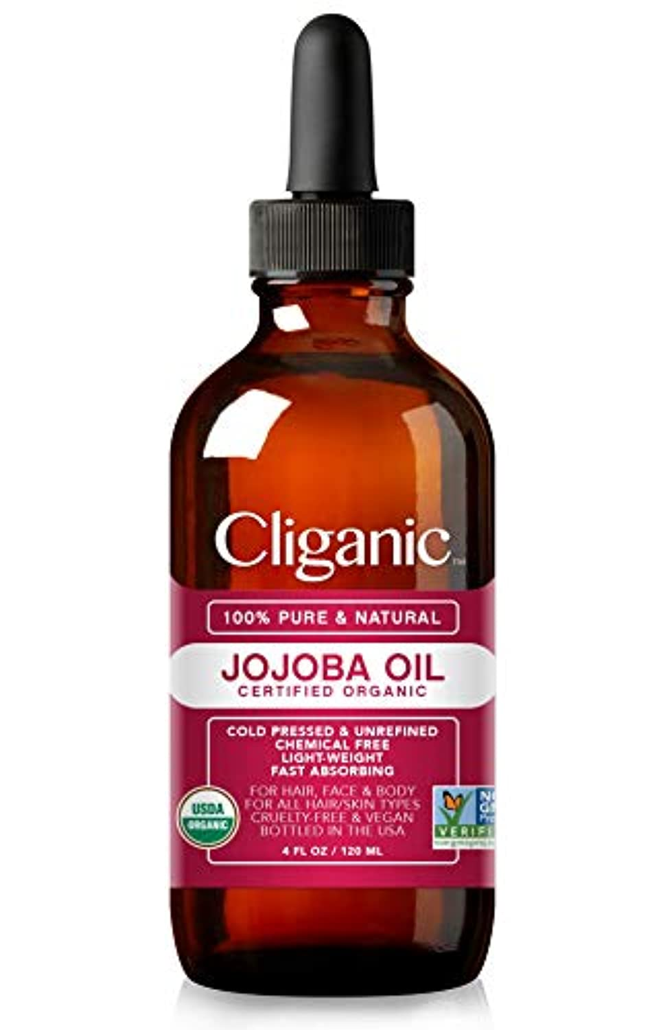 Classier: Buy Cliganic Cliganic USDA Organic Jojoba Oil, 100% Pure (4oz Large) | Natural Cold Pressed Unrefined Hexane Free Oil for Hair & Face | Base Carrier Oil | Cliganic 90 Days Warranty