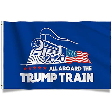 Classier: Buy Donald J. Trump Trump Flag Train Donald Trump Flags Support for President 2020 Banner - All Aboard The Trump Train 3 x 5 feet with Two Brass Grommets