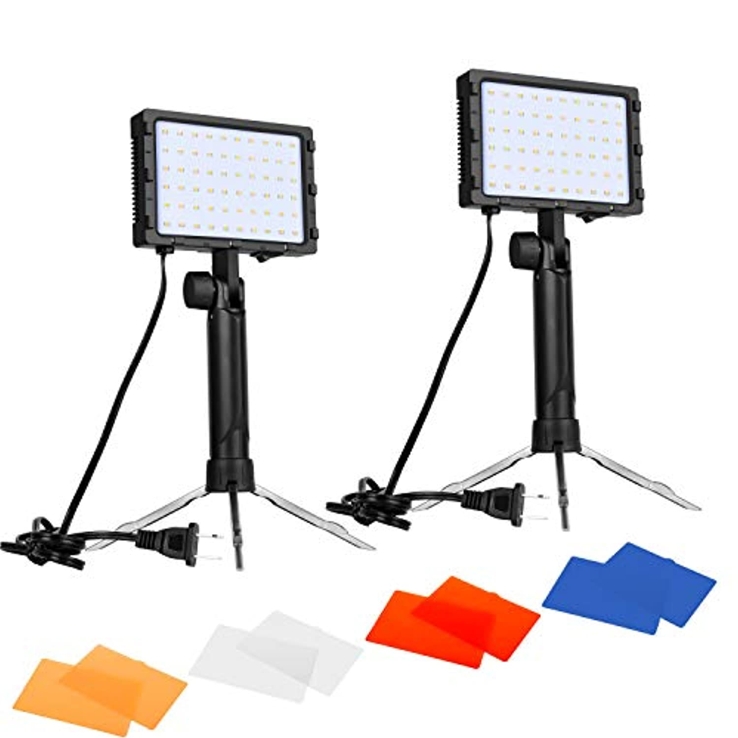 Classier: Buy Brand: EMART Emart 60 LED Continuous Portable Photography Lighting Kit for Table Top Photo Video Studio Light Lamp with Color Filters - 2 Packs