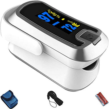 Classier: Buy mibest mibest Silver Dual Color OLED Finger Pulse Oximeter