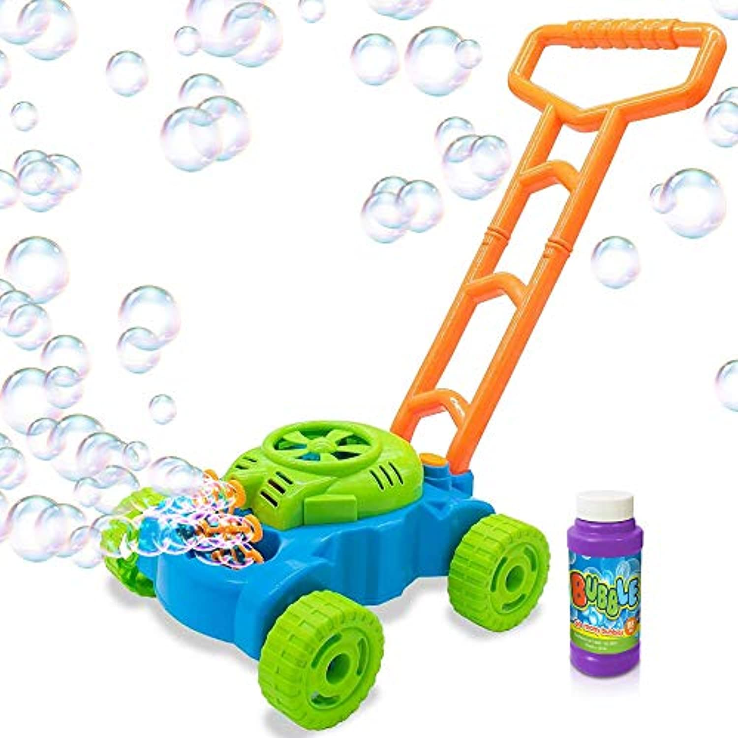 Classier: Buy ArtCreativity ArtCreativity Bubble Lawn Mower - Electronic Bubble Blower Machine - Fun Bubbles Blowing Push Toys for Kids - Bubble Solution Included - Best Birthday Gift for Boys, Girls, Toddlers