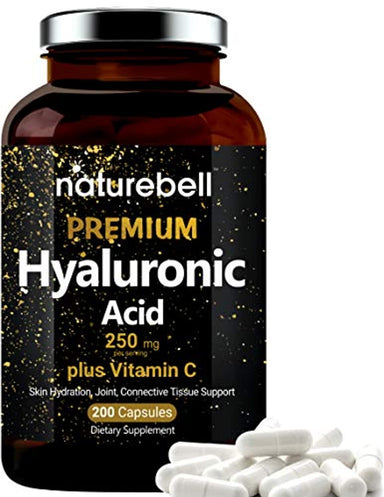 Classier: Buy NatureBell NatureBell Hyaluronic Acid Supplements, 250mg Hyaluronic Acid with 25mg Vitamin C Per Serving, 200 Capsules, Supports Skin Hydration, Joints Lubrication, Antioxidant and Immune System, Non-GMO