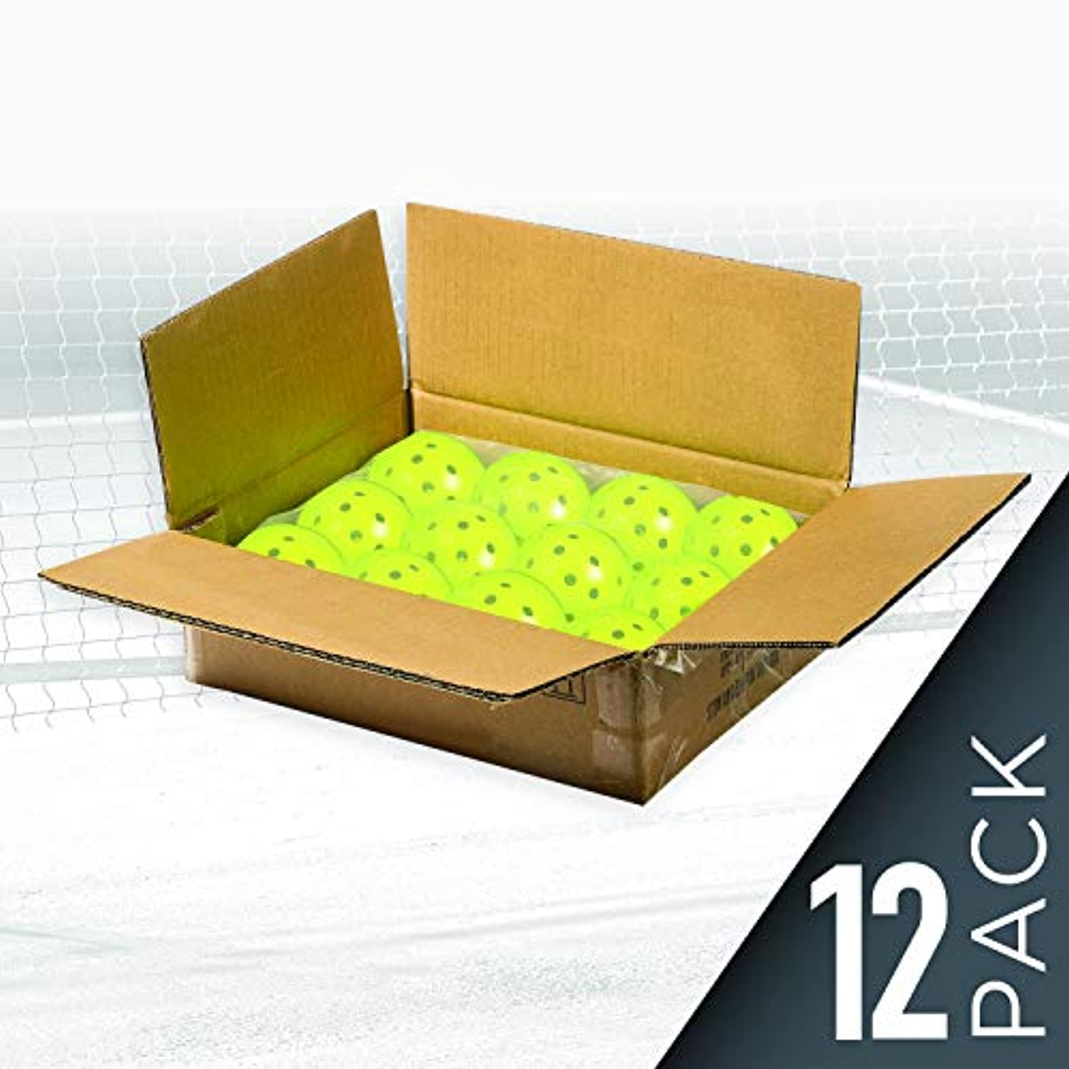 Classier: Buy Franklin Sports Franklin Sports X-40 Outdoor Performance Pickleballs - 12 Pack Bulk - USAPA Approved - Optic - Official Ball of US Open Pickleball Championships