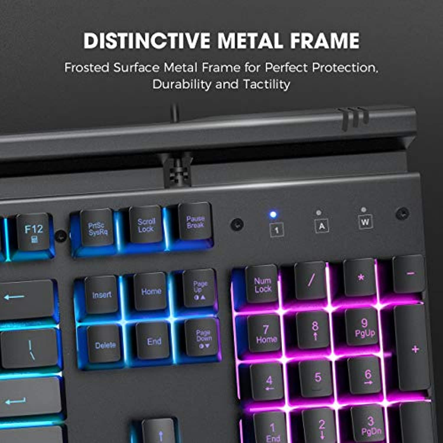 Classier: Buy VicTsing VictSing RGB Gaming Keyboard Metallic, RGB Backlit Gaming Keyboard, Metal-Panel Wired Keyboard with Mobile Phone Holder, Quiet Click Computer Keyboard with Ergonomic Wrist Rest for PC Gamers, Black