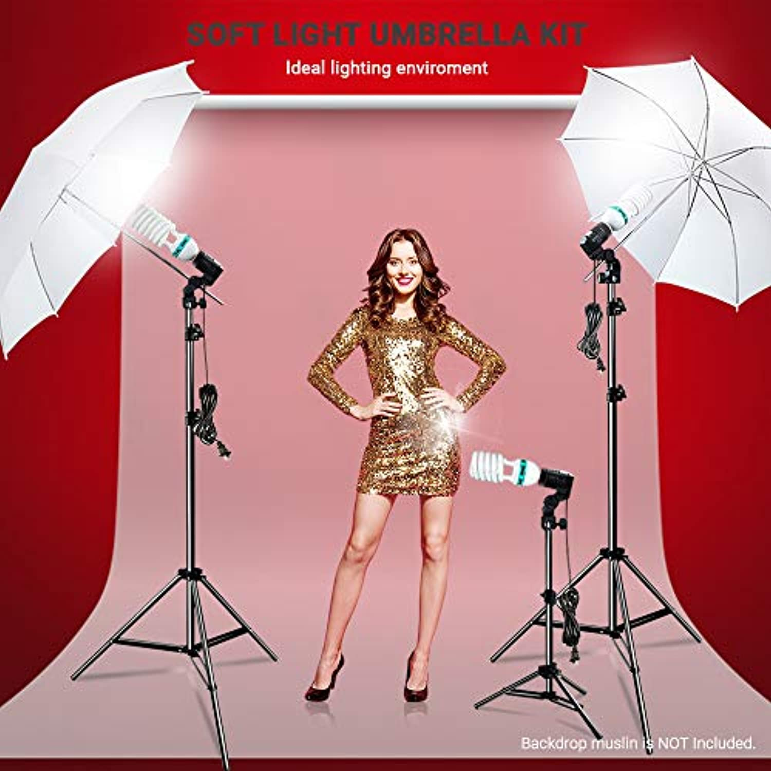 Classier: Buy Brand: LimoStudio LimoStudio Photography Photo Portrait Studio 660W Day Light Umbrella Continuous Lighting Kit, LMS103