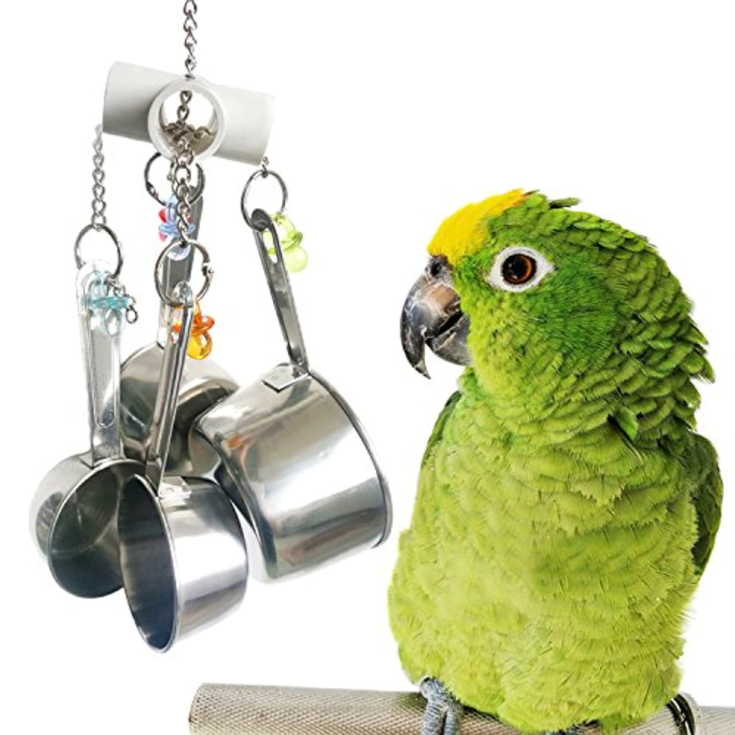 Classier: Buy BWOGUE BWOGUE 5pcs Bird Parrot Toys Hanging Bell Pet Bird Cage Hammock Swing Toy Hanging Toy for Small Parakeets Cockatiels, Conures, Macaws, Parrots, Love Birds, Finches