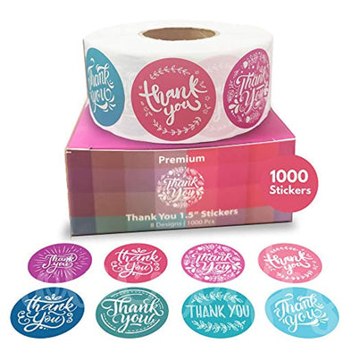 Classier: Buy Howcrafts Howcrafts Thank You Stickers Roll of 1000, 8 Designs, 1.5 Inch
